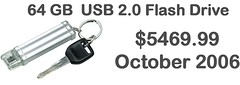 64GB USB for sale in 2006 for $5469