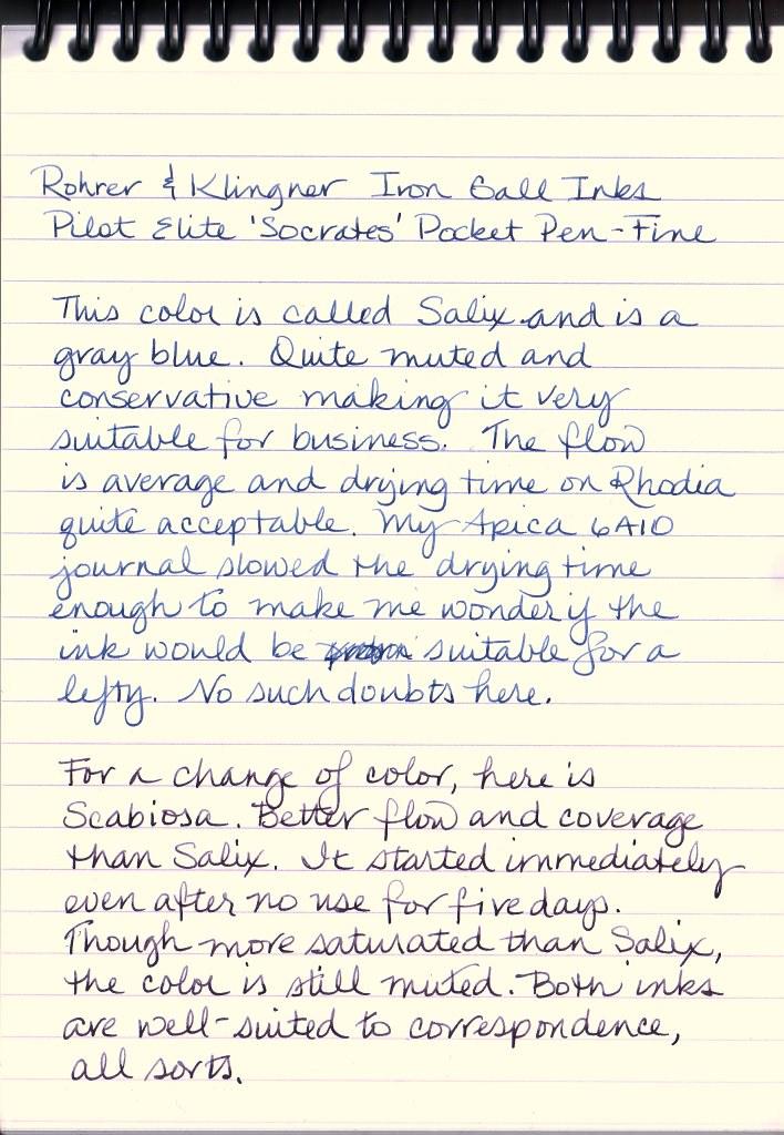Rohrer & Klingner Salix and Scabiosa Inks