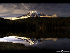 Mount Rainier (Meleah Reardon) Tags: park sunset reflection lakes mount national rainier mygearandme mygearandmepremium