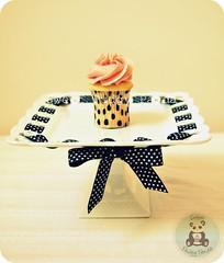 Vintage Tall Mini (Sweet Pudgy Panda) Tags: pink white black cake square strawberry plate mini polkadots cupcake vanilla tall picnik sweetpudgypanda