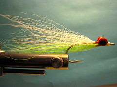 Jay Nicholas's  Chinook Salmon Clouser Chartreuse and white