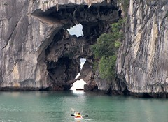 Kayaking Near Limestone Karst
