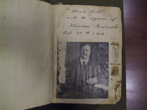 Theodore Roosevelt Scrapbook-Inscription