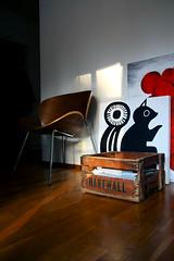 Paintings not yet on the wall (polaroidized) Tags: sunlight home contrast design chair squirrel shadows interior paintings finnish hartwall koti hem sisustus inredning sisustaminen