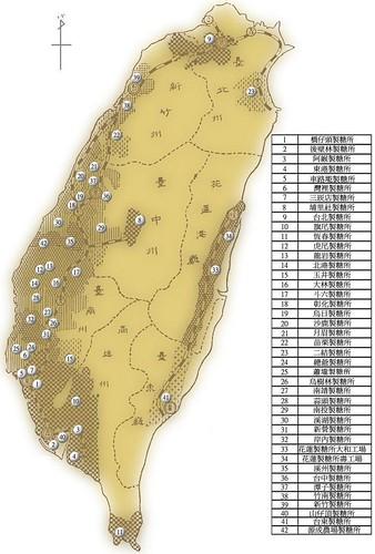 台灣製糖工場古地圖