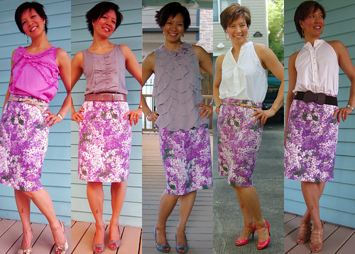lilac floral pencil skirt 01