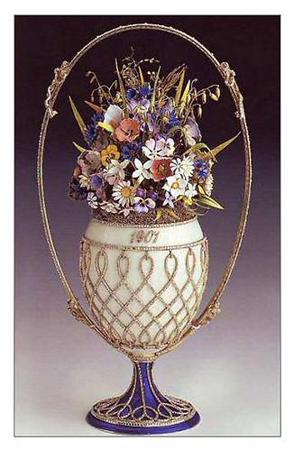 008-Huevo cesta de flores 1901-Faberge