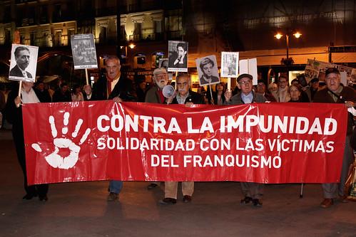 Concentración contra la impunidad del Franquismo (21/10/2010)