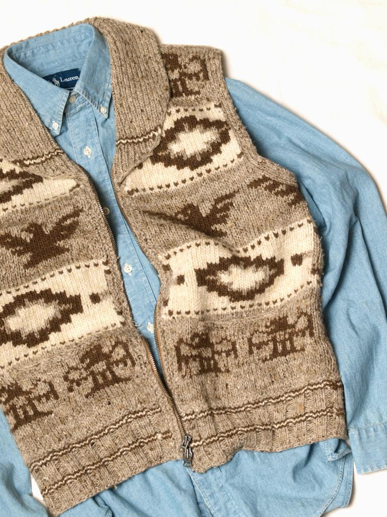 RRL / [Alaska] Cowichan Hand Knit Vest