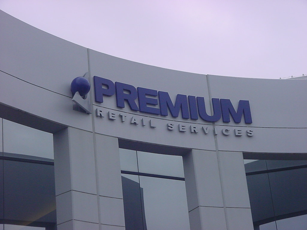 Exterior Sign for Premium Retail Services