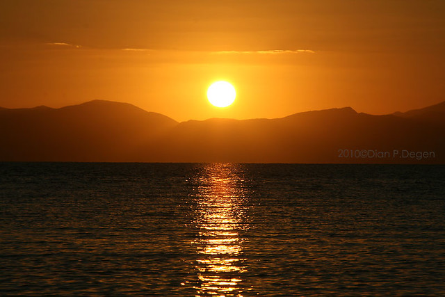 sunset  in Quarto st. Elena, Sardinia