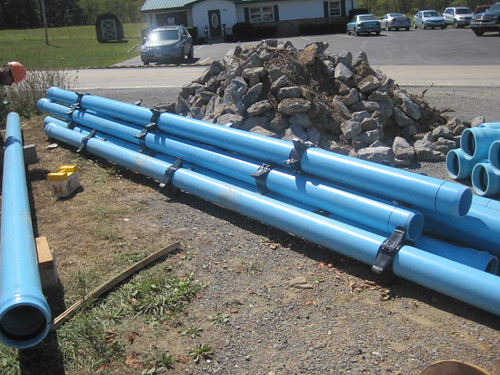 Water pipes to be installed in the community of Newburg, West Virginia