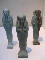 Three Shabtis (Piedmont Fossil) Tags: art museum stlouis egypt missouri ancientegypt antiquities stlouisartmuseum