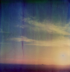 Sunset Over Santa Monica (tobysx70) Tags: california santa sunset toby sun project polaroid sx70 artistic over monica tip hancock tz impossible timezero the artistictz theimpossibleproject tobyhancock