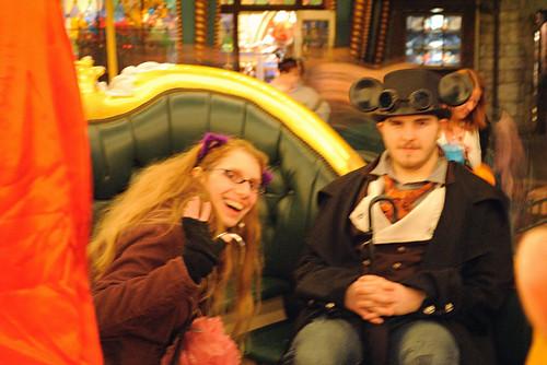 on the carrousel