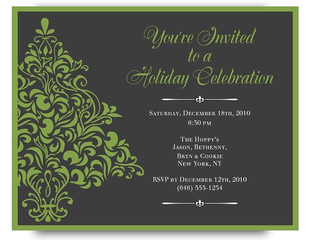 Bethenny Frankel holiday invitation