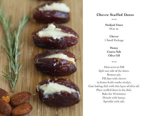 Chevre Stuffed Dates