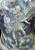 St Michael Backpiece Detail Custom Tattooing by