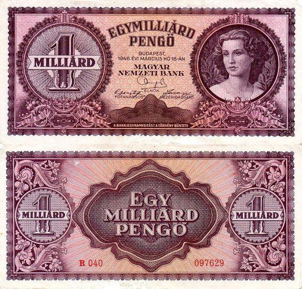 1 Miliarda Pengő Maďarsko 1946, P125