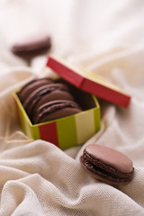 French macarons with coffee filling (vanilllaph) Tags: food brown holiday cooking dark french recipe dessert cookbook colorful cookie sweet box chocolate cook gourmet celebration gift copyspace celebrate culinary celebrating bisquit ingredient macarons specilal