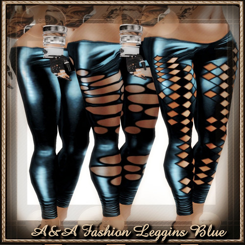 A&A Fashion Leggins Blue