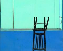 Almaty | chairs (Bewogen) Tags: blue green chair groen blauw kazakhstan stoel almaty