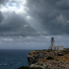Shine a light on the house (Bn) Tags: seagulls lighthouse island high spain topf50 dramatic rocky unesco biospherereserve remote desolate viewpoint topf100 uninhabited menorca minorca balearicislands milesaway seasky strongwind balearics rockycoastline tramontana 100faves 50faves themediterraneansea capdecavalleria mediterraneanlandscape naturalenvironments northernwind playasdelnorte geomenorca nestingontherocks crystalclearblue tramontanawind unspoiltislandofthebalearics wavesupto50mhigh 90mhighcliffs lighthouseoncapdecavalleria themostnortherlypointofmenorca cominodetramontana ruggedrockycove cliffsplungingintothesea waveshittherockycoast