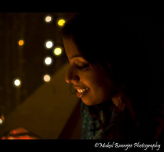 Tania lighting up the diyas 1