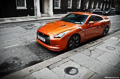 Nissan GT-R (Willem Rodenburg) Tags: uk orange 3 colour london car japan skyline bronze photoshop grey big nikon paint nissan angle unitedkingdom united picasa fast kingdom special r huge 1855 gt rims tuning quick job supercar willem londen gtr lightroom exaust hight d40 rodenburg