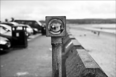 viewfinder (gorbot.) Tags: blackandwhite bw beach f14 ayr canoneos5d nikonfmount planar5014zf carlzeisszf50mmplanarf14 eosadaptor
