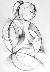 DSC_1477s (jj819j) Tags: girl pencil sketch drawing line lifedrawing posenude