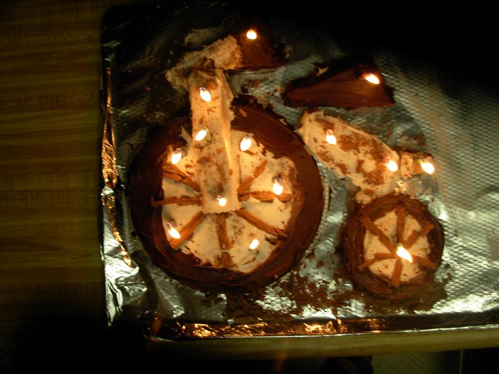 Penny Farthing birthday cake