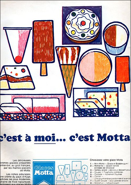 The 1960s-ad for Motta ice-creams