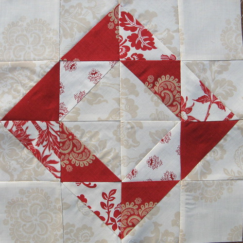 November Blocks for Amy - Ravishing in Red - close up