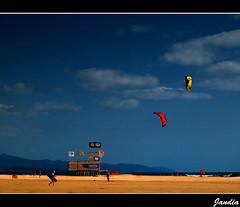 Kite Surfing (raspu) Tags: españa kite spain fuerteventura canarias surfing canary e1 olumpus raspu jandía
