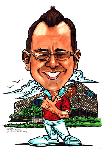 Caricature for Crowne Plaza Changi Airport Hotel