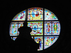stained glass window (Mirco Parmeggiani) Tags: italy cathedral tuscany siena duomo toscana bellitalia allegrisinasceosidiventa