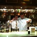 Highlander-Inn-Aaron-with-Tatsuya-behind-bar