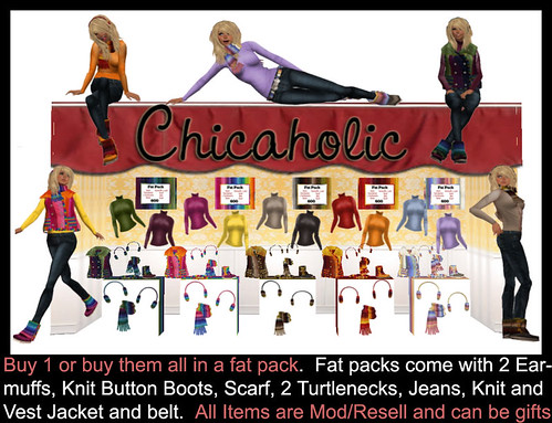 Chicaholic 9 piece fat packs and Individual Winter Items