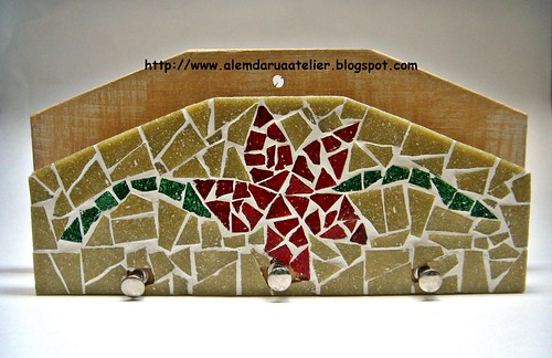 porta-chaves em mosaico