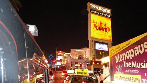 las vegas sign at night. The Las Vegas Strip at night