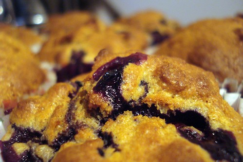 organic home baked blueberry muffins