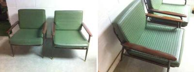 mid-c green chairs