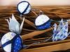 Bolinhas Azul E Branco