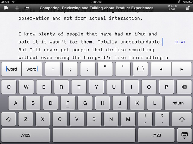 iA Writer for the iPad