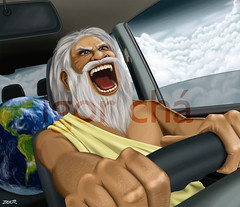 God is at the wheel (Igor Ch) Tags: sky car painting fun driving god earth cu digitalpainting carro terra igor whell volante deus ch planeta dirigindo funart pinturadigital igorchaves