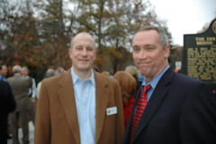 Wright Mitchel, President of Buckhead Heritage Society and Barry Brown