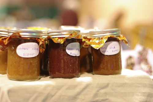 Three kinds of apple butter