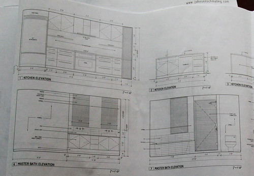 Bid set drawings - interior elevation detail