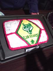 Close up of Jordan's cake